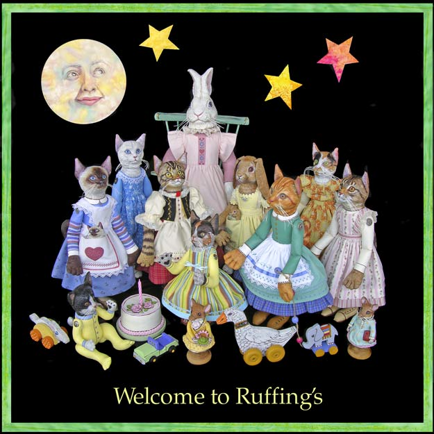Ruffing's One-of-a-kind Original Folk Art Dolls